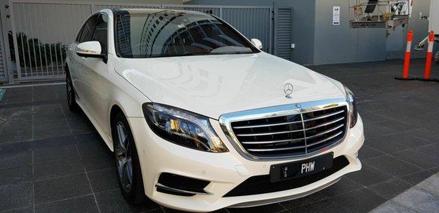 Used Mercedes-Benz S350 222 MY15 CDI L BlueTEC Southport, 2014 Mercedes-Benz S350 222 MY15 CDI L BlueTEC White 7 Speed Automatic G-Tronic Sedan