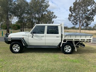 2017 Toyota Landcruiser VDJ79R GXL Double Cab French Vanilla 5 Speed Manual Cab Chassis