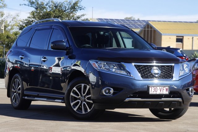 Used Nissan Pathfinder R52 MY14 ST X-tronic 2WD Bundamba, 2014 Nissan Pathfinder R52 MY14 ST X-tronic 2WD Blue 1 Speed Constant Variable Wagon