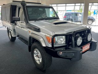 2009 Toyota Landcruiser VDJ79R MY10 GX Silver 5 Speed Manual Cab Chassis.