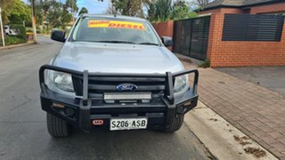 2011 Ford Ranger PX XL 2.2 (4x4) Silver 6 Speed Automatic Crew Cab Utility.