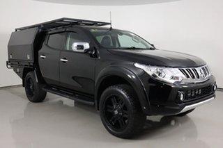 2016 Mitsubishi Triton MQ MY16 Exceed (4x4) Black 5 Speed Automatic Dual Cab Utility.