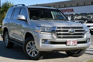 2016 Toyota Landcruiser VDJ200R Sahara Silver Pearl 6 Speed Sports Automatic Wagon.
