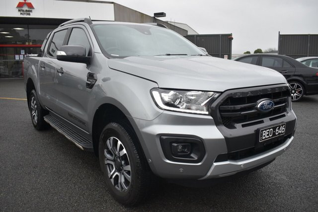 Used Ford Ranger PX MkIII 2019.75MY Wildtrak Wantirna South, 2019 Ford Ranger PX MkIII 2019.75MY Wildtrak Silver 10 Speed Sports Automatic Double Cab Pick Up
