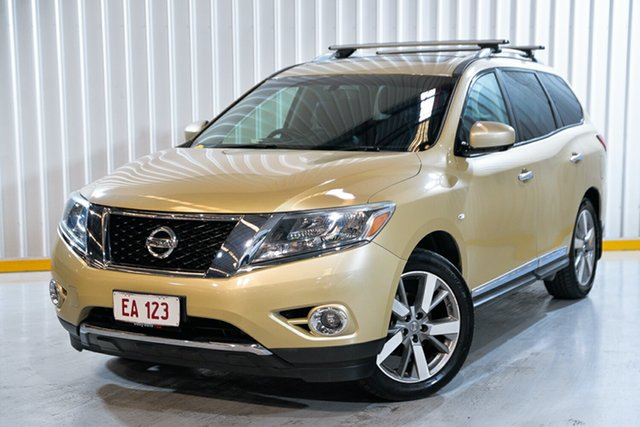 Used Nissan Pathfinder R52 MY14 Ti X-tronic 4WD Hendra, 2013 Nissan Pathfinder R52 MY14 Ti X-tronic 4WD Gold 1 Speed Constant Variable Wagon