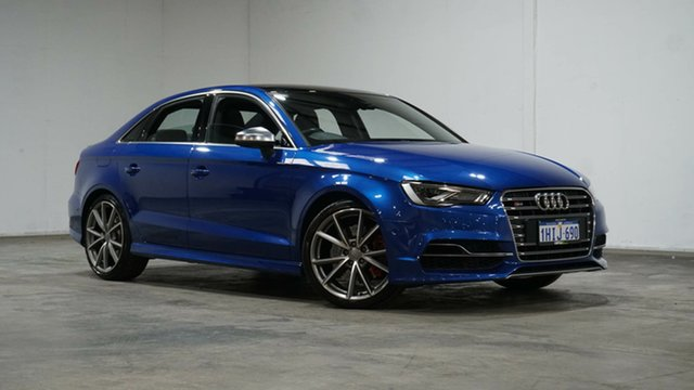 Used Audi S3 8V MY16 S Tronic Quattro Welshpool, 2016 Audi S3 8V MY16 S Tronic Quattro Blue 6 Speed Sports Automatic Dual Clutch Sedan