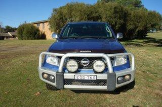 2012 Nissan Navara D40 S5 MY12 ST-X Blue 7 Speed Sports Automatic Utility.