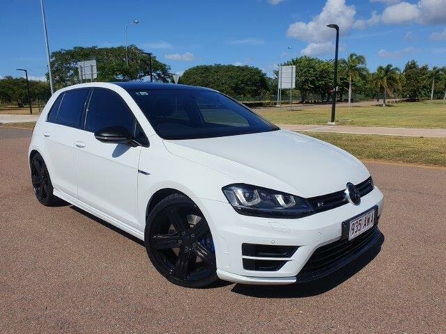 Used Volkswagen Golf VII MY17 R DSG 4MOTION Townsville, 2017 Volkswagen Golf VII MY17 R DSG 4MOTION Pure White 6 Speed Sports Automatic Dual Clutch