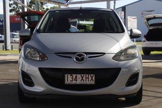 2010 Mazda 2 DE10Y1 MY10 Neo Silver 4 Speed Automatic Hatchback.