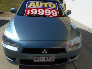 2011 Mitsubishi Lancer CJ MY11 SX Blue 6 Speed Constant Variable Sedan.