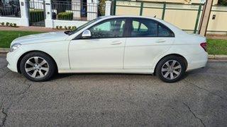 2007 Mercedes-Benz C200 W204 Kompressor Avantgarde White 5 Speed Auto Tipshift Sedan.