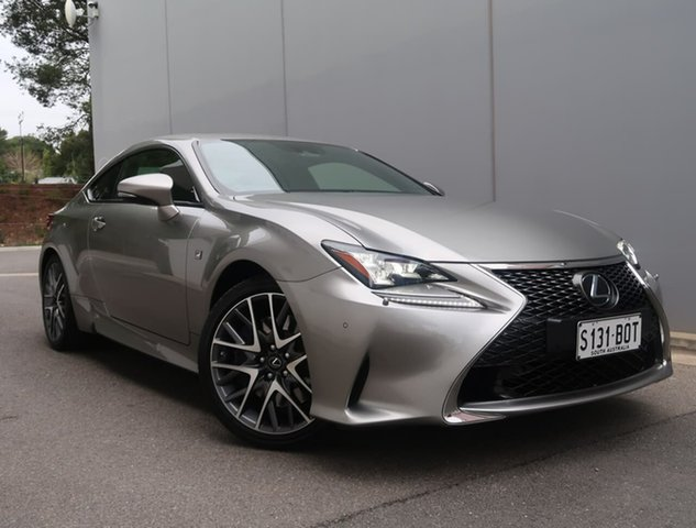 Used Lexus RC GSC10R RC350 F Sport Reynella, 2018 Lexus RC GSC10R RC350 F Sport Silver 8 Speed Sports Automatic Coupe