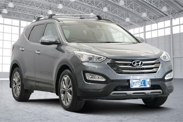 Used Hyundai Santa Fe DM2 MY15 Highlander Victoria Park, 2015 Hyundai Santa Fe DM2 MY15 Highlander Blue 6 Speed Sports Automatic Wagon