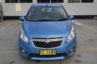 2014 Holden Barina Spark MJ MY14 CD Blue 4 Speed Automatic Hatchback.
