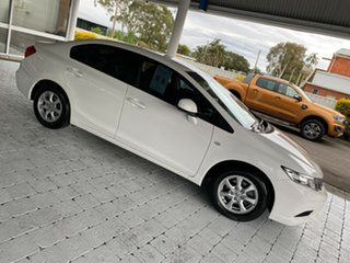 2015 Honda Civic Series 2 MY15 VTi White 5 Speed Sports Automatic Sedan