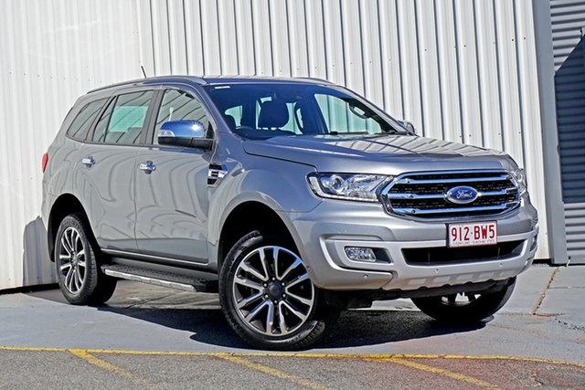 Used Ford Everest UA II 2019.00MY Titanium Springwood, 2018 Ford Everest UA II 2019.00MY Titanium Silver 10 Speed Sports Automatic SUV