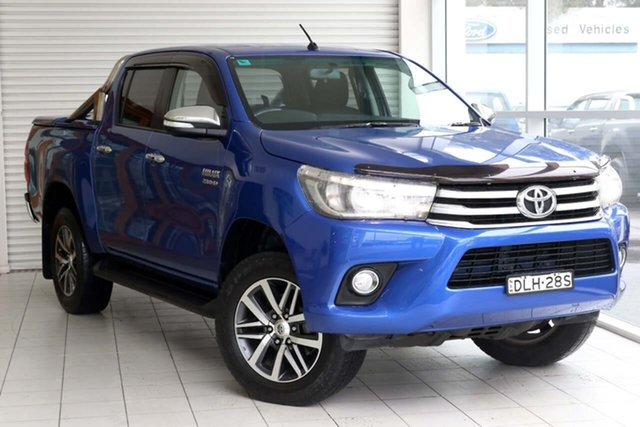 Used Toyota Hilux GUN126R SR5 Double Cab West Gosford, 2017 Toyota Hilux GUN126R SR5 Double Cab Blue 6 Speed Sports Automatic Utility