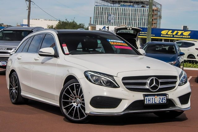 Used Mercedes-Benz C-Class S205 807+057MY C200 Estate 9G-Tronic Osborne Park, 2016 Mercedes-Benz C-Class S205 807+057MY C200 Estate 9G-Tronic White 9 Speed Sports Automatic Wagon