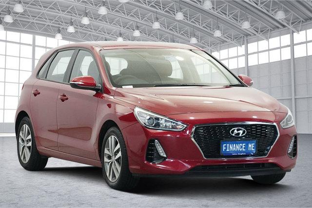 Used Hyundai i30 PD2 MY20 Active Victoria Park, 2020 Hyundai i30 PD2 MY20 Active Firey Red 6 Speed Sports Automatic Hatchback
