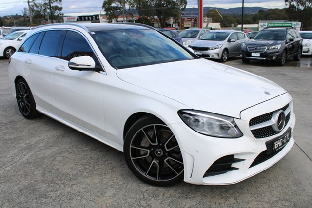 Used Mercedes-Benz C-Class S205 808MY C300 Estate 9G-Tronic Ferntree Gully, 2018 Mercedes-Benz C-Class S205 808MY C300 Estate 9G-Tronic White 9 Speed Sports Automatic Wagon