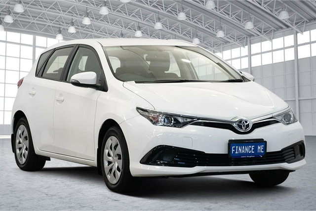 Used Toyota Corolla ZRE182R Ascent S-CVT Victoria Park, 2015 Toyota Corolla ZRE182R Ascent S-CVT White 7 Speed Constant Variable Hatchback