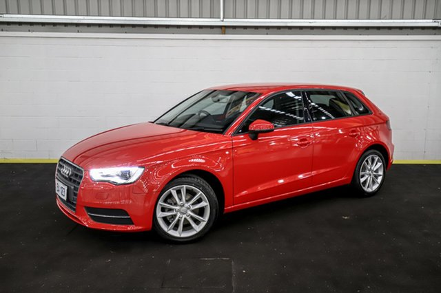 Used Audi A3 8V MY16 Attraction Sportback S Tronic Canning Vale, 2016 Audi A3 8V MY16 Attraction Sportback S Tronic Red 7 Speed Sports Automatic Dual Clutch