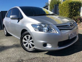 2010 Toyota Corolla ZRE152R MY11 Conquest Silver 4 Speed Automatic Hatchback.