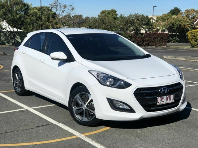 Used Hyundai i30 GD4 Series II MY17 Active X Chermside, 2016 Hyundai i30 GD4 Series II MY17 Active X White 6 Speed Sports Automatic Hatchback