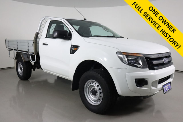 Used Ford Ranger PX XL 3.2 (4x4) Bentley, 2013 Ford Ranger PX XL 3.2 (4x4) White 6 Speed Automatic Cab Chassis