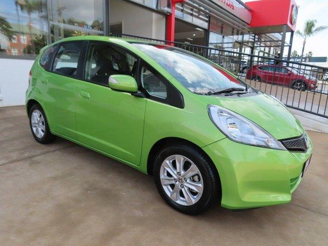 Used Honda Jazz GE MY12 Vibe Toowoomba, 2013 Honda Jazz GE MY12 Vibe Green 5 Speed Automatic Hatchback