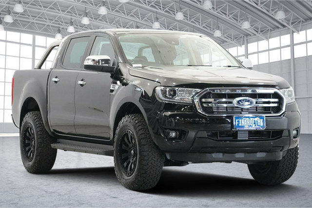 Used Ford Ranger PX MkIII 2020.75MY XLT Victoria Park, 2020 Ford Ranger PX MkIII 2020.75MY XLT Black 10 Speed Sports Automatic Double Cab Pick Up