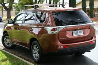 2012 Mitsubishi Outlander ZH MY12 LS Orange 6 Speed Constant Variable Wagon.