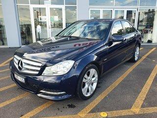 2012 Mercedes-Benz C-Class W204 MY12 C200 BlueEFFICIENCY 7G-Tronic + Blue 7 Speed Sports Automatic.