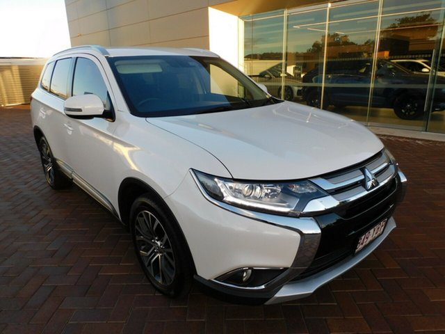 Used Mitsubishi Outlander ZK MY17 LS 4WD Safety Pack Toowoomba, 2016 Mitsubishi Outlander ZK MY17 LS 4WD Safety Pack White 6 Speed Sports Automatic Wagon