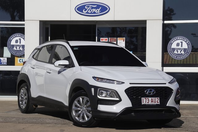 Used Hyundai Kona Go 2WD Beaudesert, 2020 Hyundai Kona Go 2WD Chalk White 6 Speed Sports Automatic Wagon