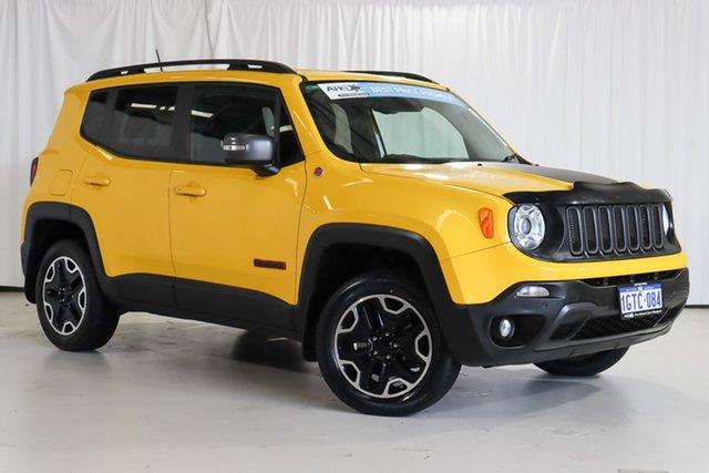 Used Jeep Renegade BU MY17 Trailhawk AWD Wangara, 2017 Jeep Renegade BU MY17 Trailhawk AWD Yellow 9 Speed Sports Automatic Hatchback