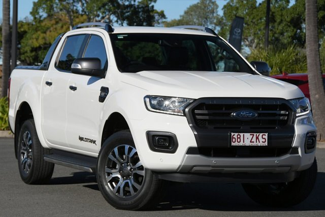 Used Ford Ranger PX MkIII 2019.75MY Wildtrak North Lakes, 2019 Ford Ranger PX MkIII 2019.75MY Wildtrak White 6 Speed Sports Automatic Double Cab Pick Up