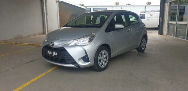 Used Toyota Yaris NCP130R Ascent Melton, 2017 Toyota Yaris NCP130R Ascent Silver 4 Speed Automatic Hatchback