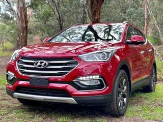 2017 Hyundai Santa Fe DM3 MY17 Active X 2WD Merlot Red Pearl/bla 6 Speed Sports Automatic Wagon.