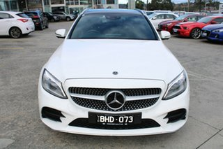 2018 Mercedes-Benz C-Class S205 808MY C300 Estate 9G-Tronic White 9 Speed Sports Automatic Wagon.