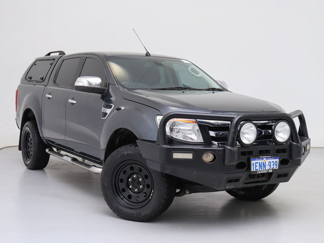 Used Ford Ranger PX XLT 3.2 (4x4), 2014 Ford Ranger PX XLT 3.2 (4x4) Grey 6 Speed Manual Double Cab Pick Up