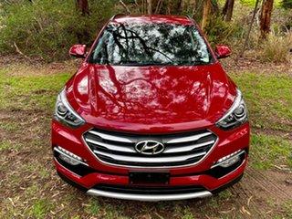 2017 Hyundai Santa Fe DM3 MY17 Active X 2WD Merlot Red Pearl/bla 6 Speed Sports Automatic Wagon