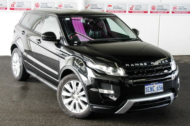 Pre-Owned Land Rover Range Rover Evoque LV MY14 TD4 Dynamic Myaree, 2014 Land Rover Range Rover Evoque LV MY14 TD4 Dynamic Black 9 Speed Automatic Wagon