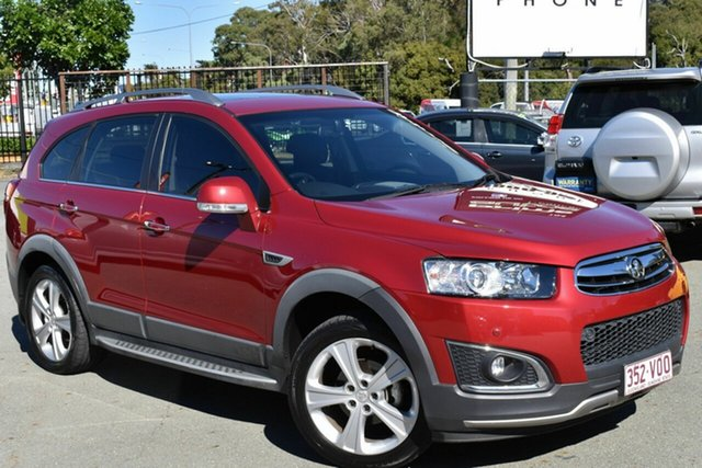 Used Holden Captiva CG MY15 7 LTZ (AWD) Underwood, 2015 Holden Captiva CG MY15 7 LTZ (AWD) Red 6 Speed Automatic Wagon