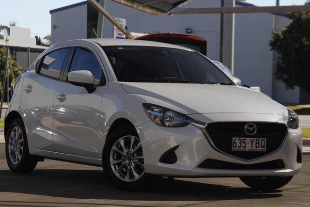 Used Mazda 2 DJ2HAA Maxx SKYACTIV-Drive Bundamba, 2018 Mazda 2 DJ2HAA Maxx SKYACTIV-Drive White 6 Speed Sports Automatic Hatchback