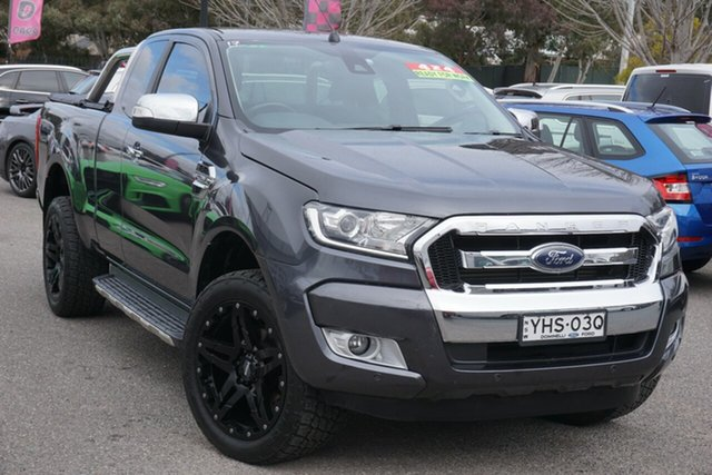 Used Ford Ranger PX MkII XLT Super Cab Phillip, 2017 Ford Ranger PX MkII XLT Super Cab Grey 6 Speed Manual Utility