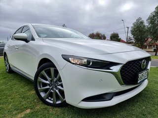 2019 Mazda 3 BP2SLA G25 SKYACTIV-Drive Evolve Snowflake White 6 Speed Sports Automatic Sedan.