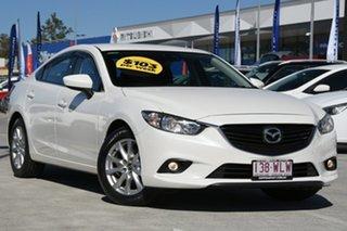 2015 Mazda 6 GJ1032 Sport SKYACTIV-Drive White 6 Speed Sports Automatic Sedan.