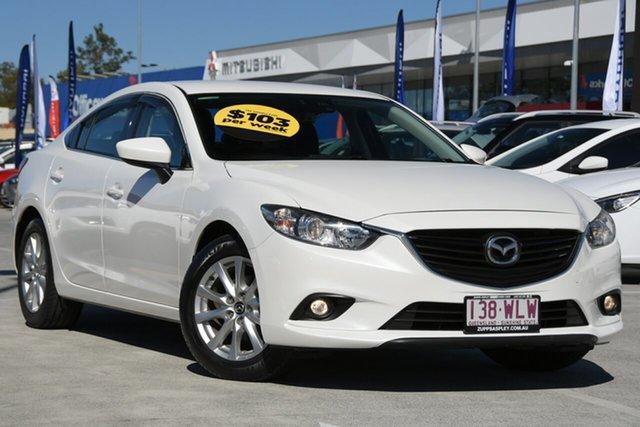 Used Mazda 6 GJ1032 Sport SKYACTIV-Drive Aspley, 2015 Mazda 6 GJ1032 Sport SKYACTIV-Drive White 6 Speed Sports Automatic Sedan