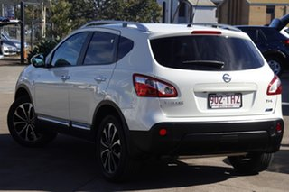2013 Nissan Dualis J10W Series 4 MY13 Ti-L Hatch X-tronic 2WD White 6 Speed Constant Variable.